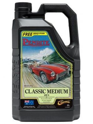 Penrite Classic Medium High Zinc multigrade engine oil 5 litres formerly HPR40